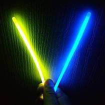 Неоновые браслеты светящиеся SoFun glow stick желто-синие 100 штук