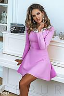 Женское деловое платье мини цвет розовый