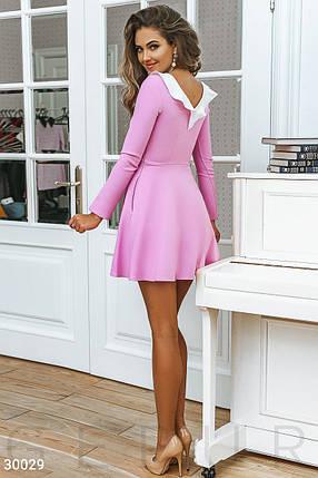 Женское деловое платье мини цвет розовый, фото 2