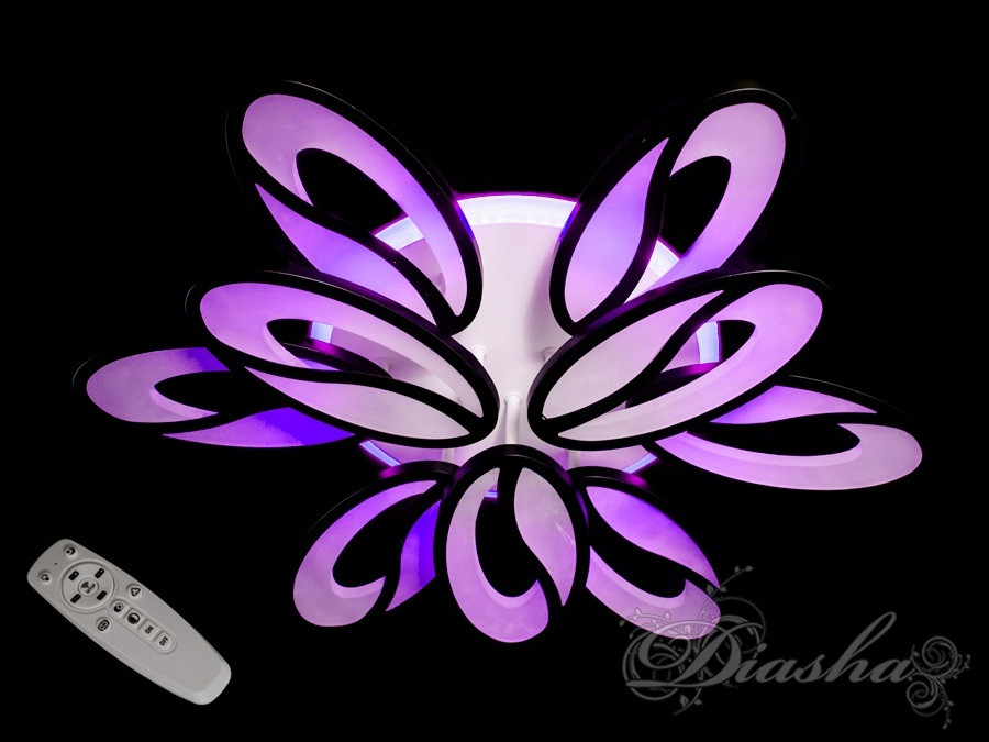 Красивая потолочная люстра 8090/6+3BK LED 3color dimmer