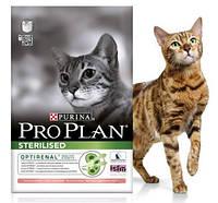 Корм Про План Стерилизед (Pro Plan Sterilised) для стерилизованных кошек и кастрированных котов, лосось, 10 кг