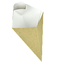 Упаковка для картофеля фри (+соус 20мл) Крафт 80*200мм 300мл 40шт/уп