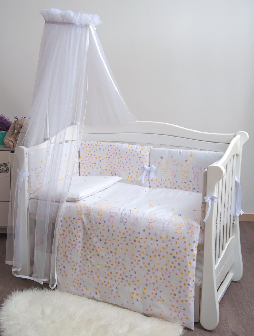 Детское постельное белье Twins Eco Line New E-023 Bunnies beige 6 эл
