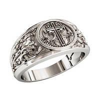 Кольцо серебряное Спаси и Сохрани 1