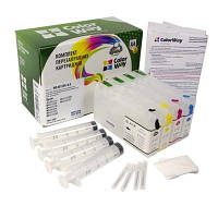 Комплект перезаправляемых картриджей ColorWay Epson WP-4015DN/4025/4095/4515/4525/4535/4545 (без чрн.) (WP4015