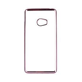 Прозрачный силиконовый чехол для Xiaomi Mi Note 2 с глянцевой окантовкой