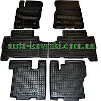 Резиновые коврики в салон Kia Mohave (7 местный) (Avto-Gumm)