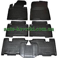Резиновые коврики в салон Hyundai Santa-Fe Grand 2014- (7мест) (BASE) (Avto-Gumm)