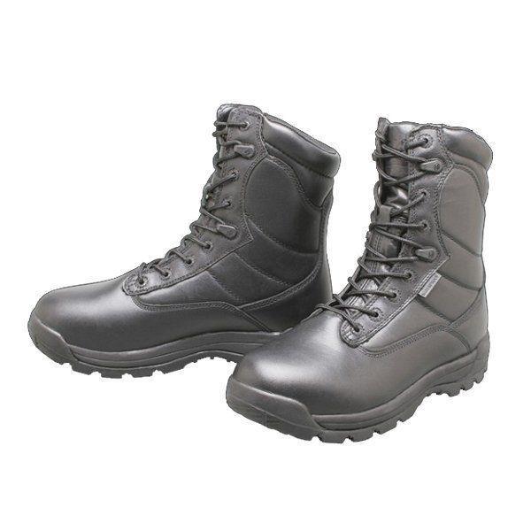 Ботинки берцы GK PRO Field Leather Waterproof Black черные