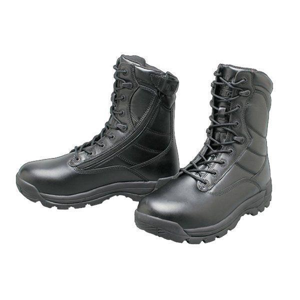 Ботинки берцы GK PRO Field Leather Zip Black черные