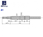 Термопара Оголовок тип А1 Подсоединение к клапану М9х1 Длинна L=220 мм 0.200.001, фото 3