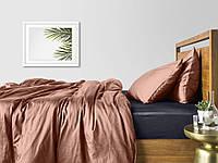 Комплект полуторного постельного белья сатин BEIGE GREY-S