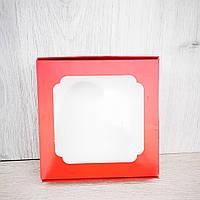 Коробка для сладостей 150*150*30 красный