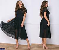 """Черное вечернее платье двойка отличного качества """"Элизи"""""""