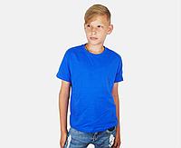 Детская Классическая Футболка для Мальчиков Ярко-синяя Fruit of the loom 61-033-51 3-4, фото 1