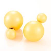 Серьги Диор Dior Жёлтые, фото 1