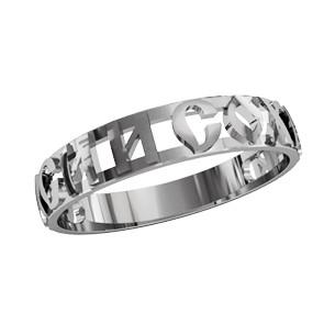Кольцо серебряное Спаси и Сохрани 2