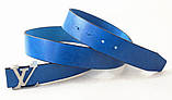 Синий кожаный ремень Louis Vuitton, фото 2
