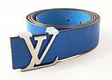 Синий кожаный ремень Louis Vuitton, фото 4