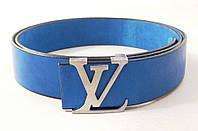 Синий кожаный ремень Louis Vuitton, фото 1