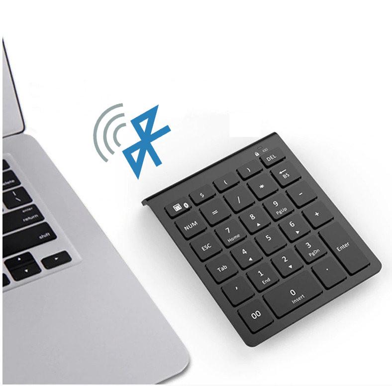 Клавиатура цифровая беспроводная bluetooth 28 клавиш. Bluetooth числовая клавиатура на батарейках