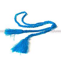 Пояс-шнурок Кисточка синий