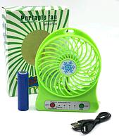 Мини-вентилятор Portable Fan Mini Зеленый