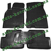 Резиновые коврики в салон Renault Megane IІI 2008- (Avto-Gumm) Автогум