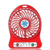 Міні-вентилятор Portable Fan Mini Червоний