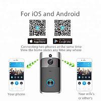 Домофон WiFi беспроводной Дистанционный Видео дверной звонок камера