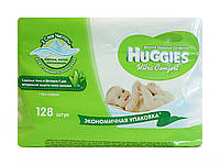 Влажные салфетки для детей Huggies Ultra Comfort Aloe + витамин Е (экономичная упаковка) - 2x64шт. (128 шт.)
