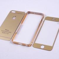 Противоударное стекло для Iphone 5/5S+бампер алюминиевый