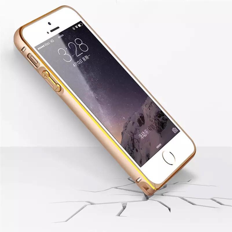 Металлический бампер для Iphone 5/5S/5SE gold
