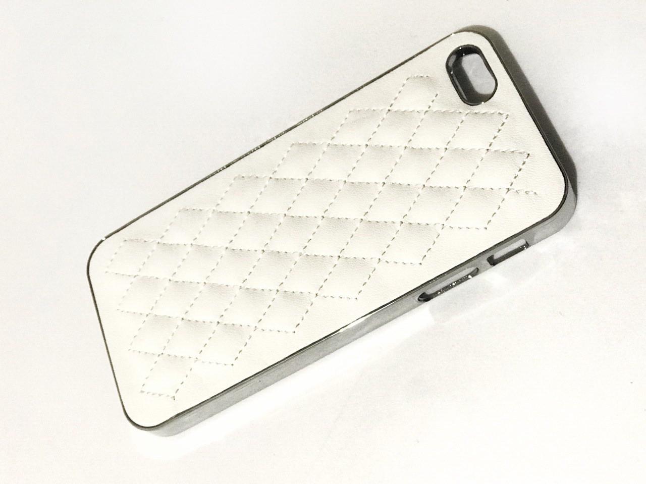 Чехол кожаный для Iphone 5/5S/5SE  белый