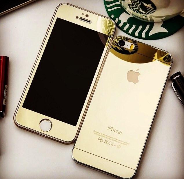Защитное стекло для Iphone 5/5S/5SE gold