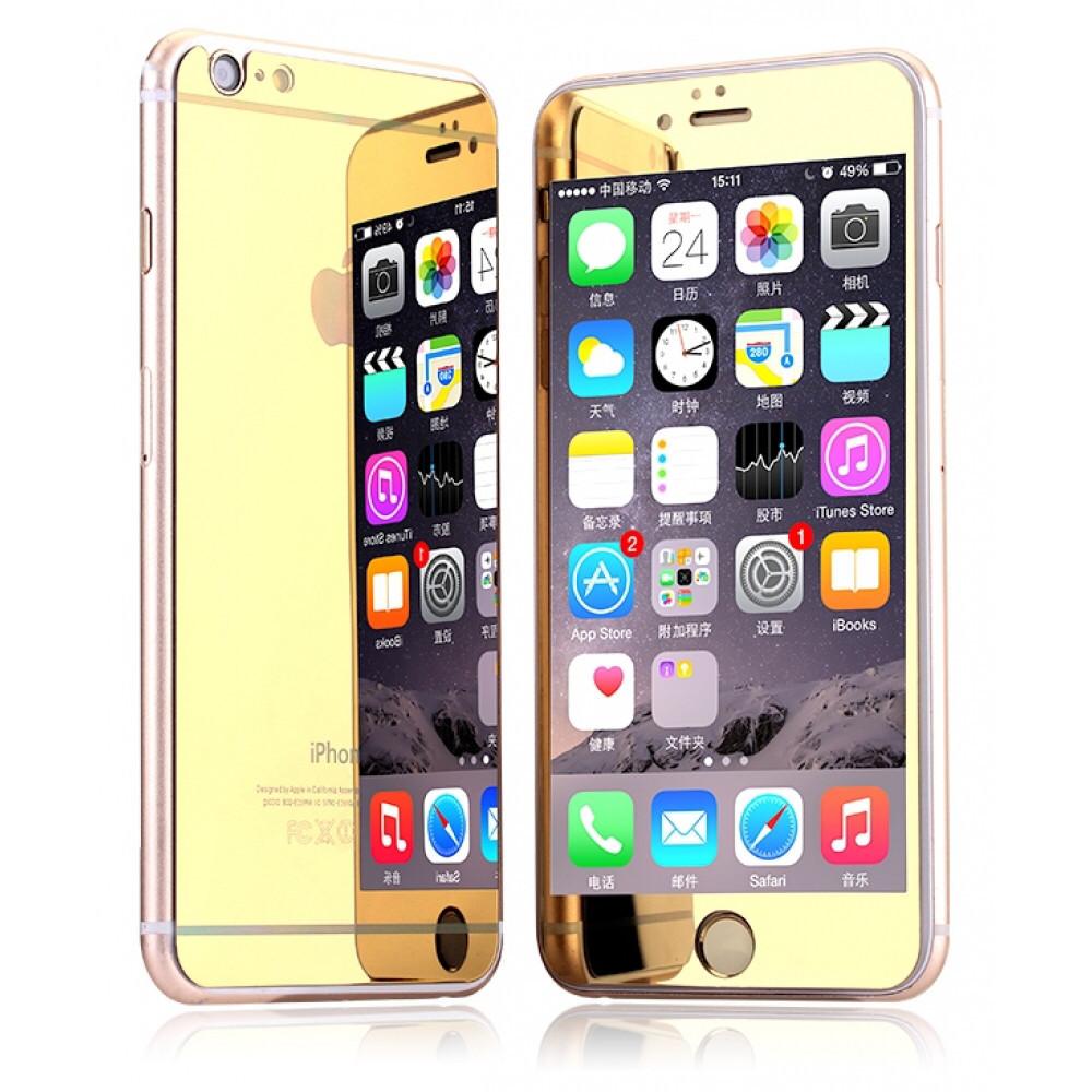 Золотые зеркальные стекла для Iphone 5/5S/5SE