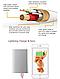USB кабель для Iphone 5/5S/6/6S/6+/Ipad mini золотой с метализированой нитью, фото 3