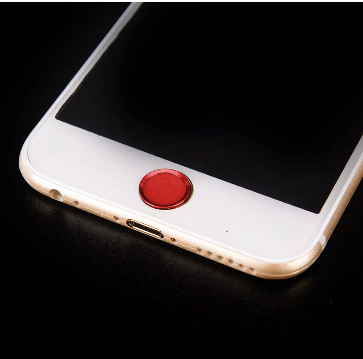 Стикер/наклейка на кнопку Home+Touch Id для Iphone 5/5S/5SE red