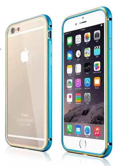 Металлический бампер накладка  для Iphone 5/5S/5SE бирюзовый