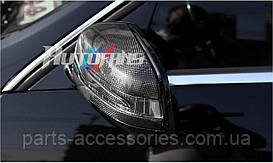 Mercedes C W204 рестайлинг Carbon карбоновые накладки на зеркала