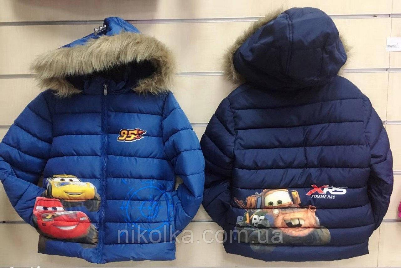 Куртки утеплённые для мальчиков оптом, Disney, 98-128 см, арт. 92532
