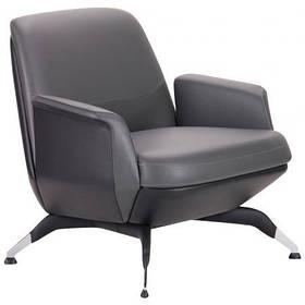 Кресло офисное Absolute комбинированная кожа люкс Beige/Coffee (AMF-ТМ) 1, кресло, Grey/Black