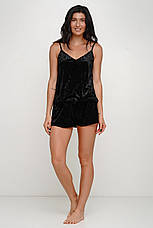 Черная велюровая пижама с сеткойТМ Orli, фото 3