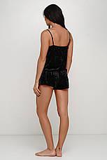 Черная велюровая пижама с сеткойТМ Orli, фото 2