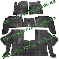 Резиновые коврики в салон Infiniti QX80 (Y62) 2013- (7мест) (Avto-Gumm) Автогум