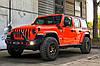 Силовой передний бампер с красными вставками Jeep Wrangler JL, фото 6
