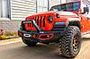 Силовой передний бампер с красными вставками Jeep Wrangler JL, фото 9