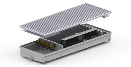 Конвектор внутрип. CV2-(Inox) 2 теп-ка 380/1000/90 +вент. Carrera