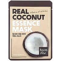 Восстанавливающая и увлажняющая маска с экстрактом кокоса Farm Stay Real Essence Mask Coconut
