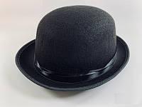 Шляпа Котелок черная маленькая